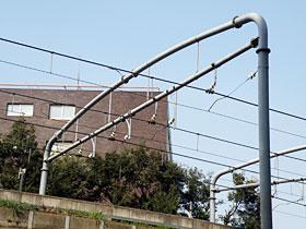 門型鋼管柱・鋼管ビーム 4線跨用エルボータイプ